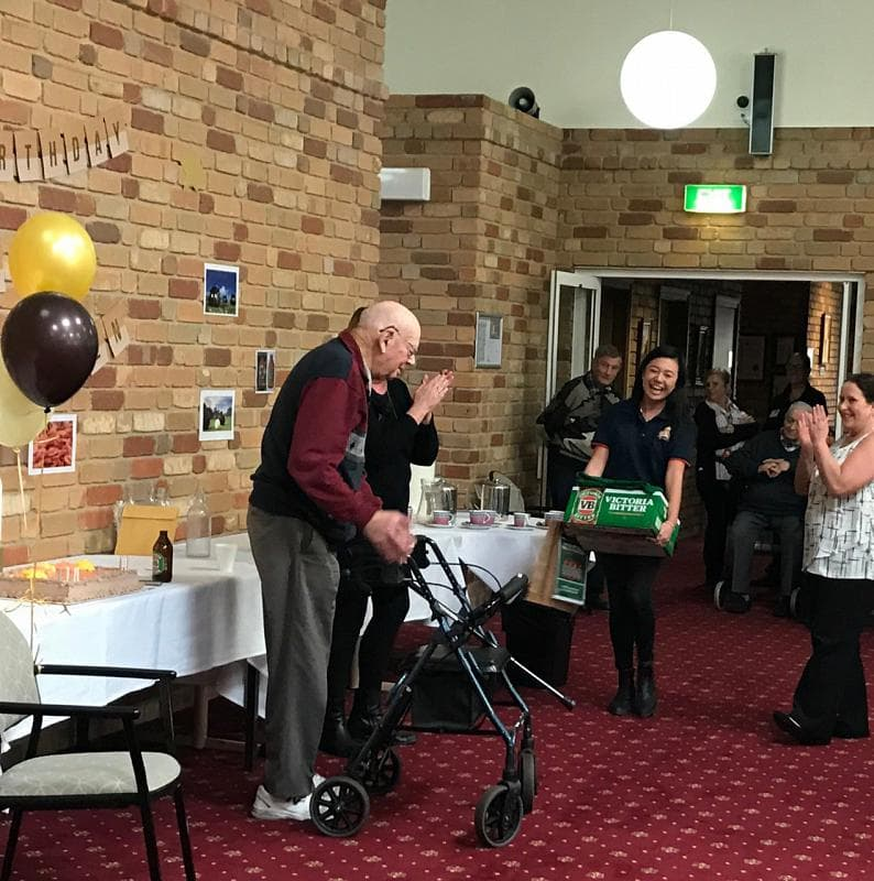 Bowling his way to a century - Parkglen resident Ray Woods celebrates his 100th birthday milestone